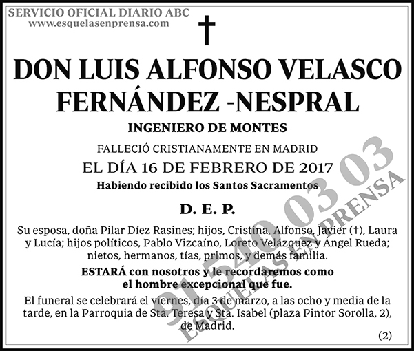 Luis Alfonso Velasco Fernández-Nespral